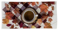 Autumn Tea Time Bath Towel
