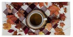 Autumn Tea Time Hand Towel