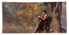 Autumn Thoughts Hand Towel by Daniel Eskridge