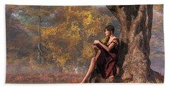 Bath Towel featuring the digital art Autumn Thoughts by Daniel Eskridge