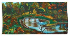Autumn Trees In Virginia Bath Towel