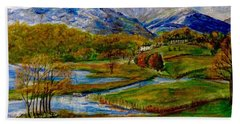 Autumn View Of The Trossachs Hand Towel