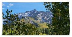 Autumn View Through Aspen Leaves Hand Towel