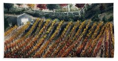 Autumn Vines Hand Towel by Roxy Rich