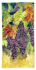 Autumn Vineyard In Its Glory - Batik Style Bath Towel by Audrey Jeanne Roberts