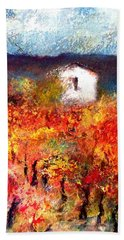 Autumn Vineyard Bath Towel