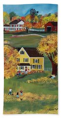 Hand Towel featuring the painting Autumn by Virginia Coyle