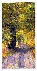 Autumn Walk Bath Towel by Gail Kirtz