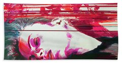 Bath Towel featuring the painting Autumn's Waiting  by Rene Capone