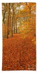 Autumn Woodland In Derbyshire Hand Towel
