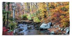 Autumn Woodlands Bath Towel