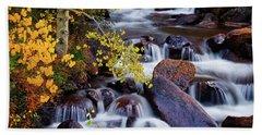Hand Towel featuring the photograph Autumn Zen by John De Bord