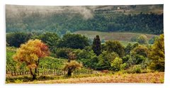 Autumnal Hills Hand Towel by Silvia Ganora