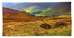 Hand Towel featuring the photograph Autumnal Hills. Wicklow. Ireland by Jenny Rainbow