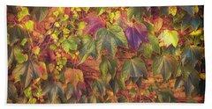 Autumnal Leaves Bath Towel