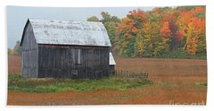 Hand Towel featuring the photograph Autumnal.. by Nina Stavlund