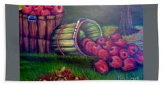 Bath Towel featuring the painting Autumn's Bounty In Tennessee by Kimberlee Baxter
