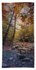 Hand Towel featuring the photograph Autumn's Early Evening by John Rivera