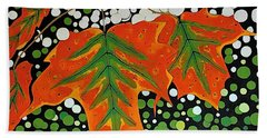 Bath Towel featuring the painting Autumns Kiss by Kathleen Sartoris