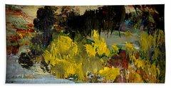 Autumn's Last Days Bath Towel by Nancy Kane Chapman
