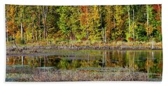 Bath Towel featuring the photograph Autumns Quiet Moment by Karol Livote