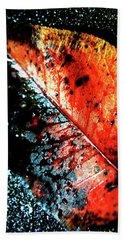 Hand Towel featuring the photograph Autumns Rain by Lesa Fine