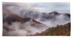 Autumn's Smoky Mountain Mist Bath Towel