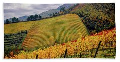 Hand Towel featuring the photograph Autunno Italiano by Jennie Breeze