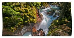 Bath Towel featuring the photograph Avalanche Gorge by Gary Lengyel