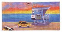 Bath Towel featuring the painting Avenue C by Jamie Frier