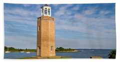 Avery Point Lighthouse Bath Towel