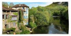 Aveyron River In Saint-antonin-noble-val Bath Towel by RicardMN Photography