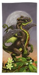 Hand Towel featuring the digital art Avocado Dragon by Stanley Morrison