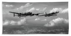 Bath Towel featuring the photograph Avro Sisters Bw Version by Gary Eason