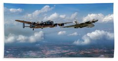 Bath Towel featuring the photograph Avro Sisters  by Gary Eason