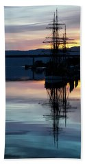 Awaiting The Tide Hand Towel by Mark Alder