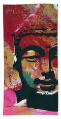 Awakened Buddha 4- Art By Linda Woods Hand Towel