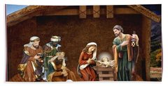 Away In The Manger Hand Towel by Ron Chambers