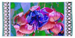 Awesome Blooms Hand Towel by Shirley Moravec