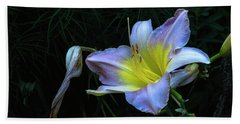 Bath Towel featuring the photograph Awesome Daylily by Tom Singleton