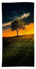 Awesome Solitude II Hand Towel by Bess Hamiti