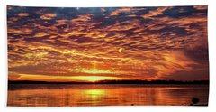 Awsome Sunset Hand Towel by Doug Long