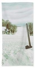 Axe In Snow Scene Hand Towel