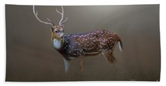 Axis Deer Bath Towel by Marion Johnson