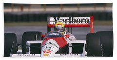 Ayrton Senna. 1988 Mexican Grand Prix Bath Towel