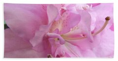 Bath Towel featuring the photograph Azalea Close Up by Cathy Harper