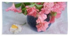 Azalea Time Hand Towel by Louise Kumpf