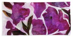 Bath Towel featuring the painting Azaleas by Julie Maas