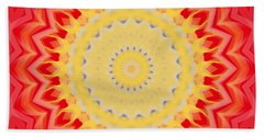 Aztec Sunburst Bath Towel by Roxy Riou