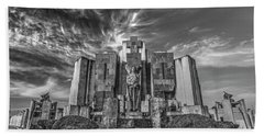 Hand Towel featuring the photograph Azul Cemetery by Bernardo Galmarini